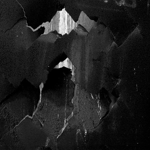 Crumpled Black Wall Texture