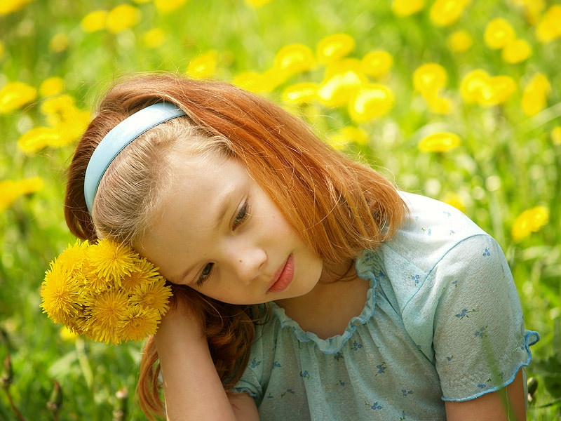 Cute Girl With flower Photography