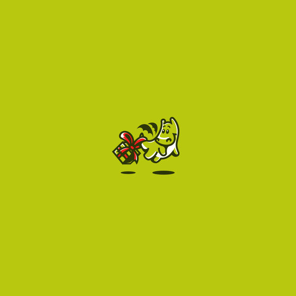 Cute dragon Character Logo