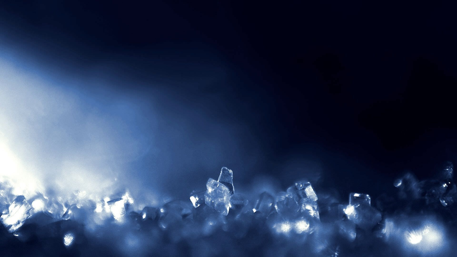 Dark Blue Crystal Widescren Background
