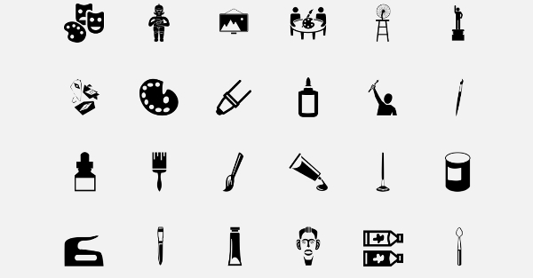 Dark Shaded Art Icons