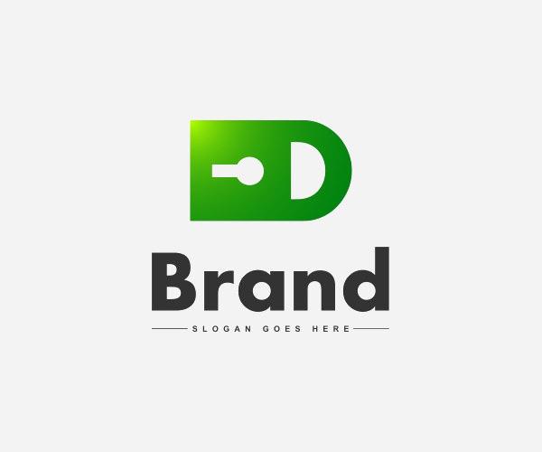 Data Security Lock D Logo