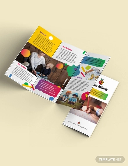 daycare tri fold brochure template