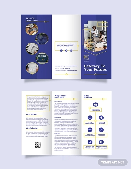 22 Die Cut Brochure Templates Psd Vector Eps Jpg
