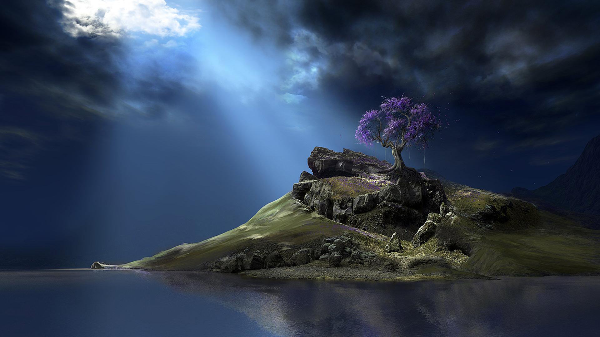 Digital 3D Landscape HD Wallpaper