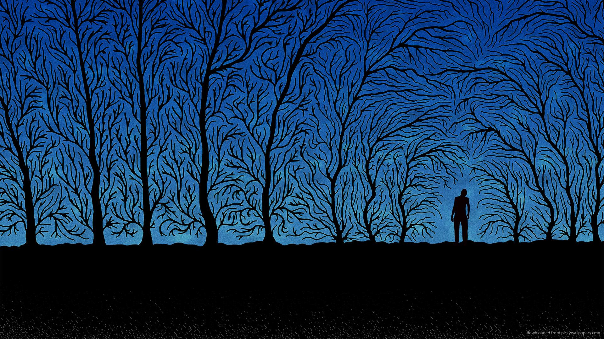 Digital Art Spooky forest Wallpaper