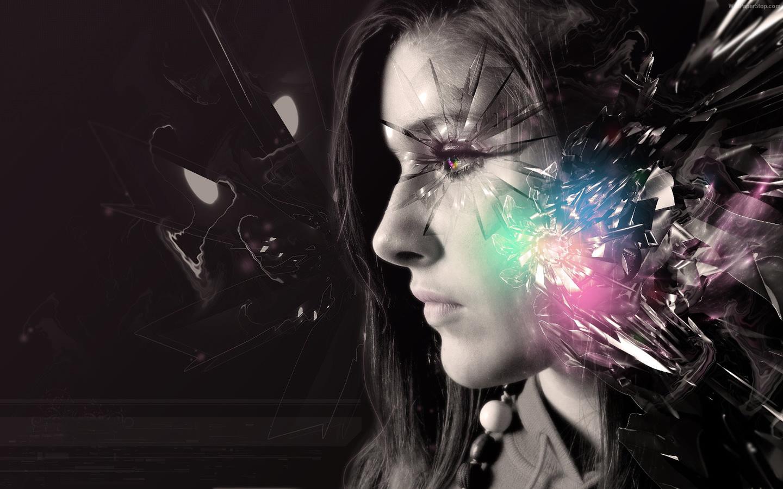 Digital Girl Art Wallpaper