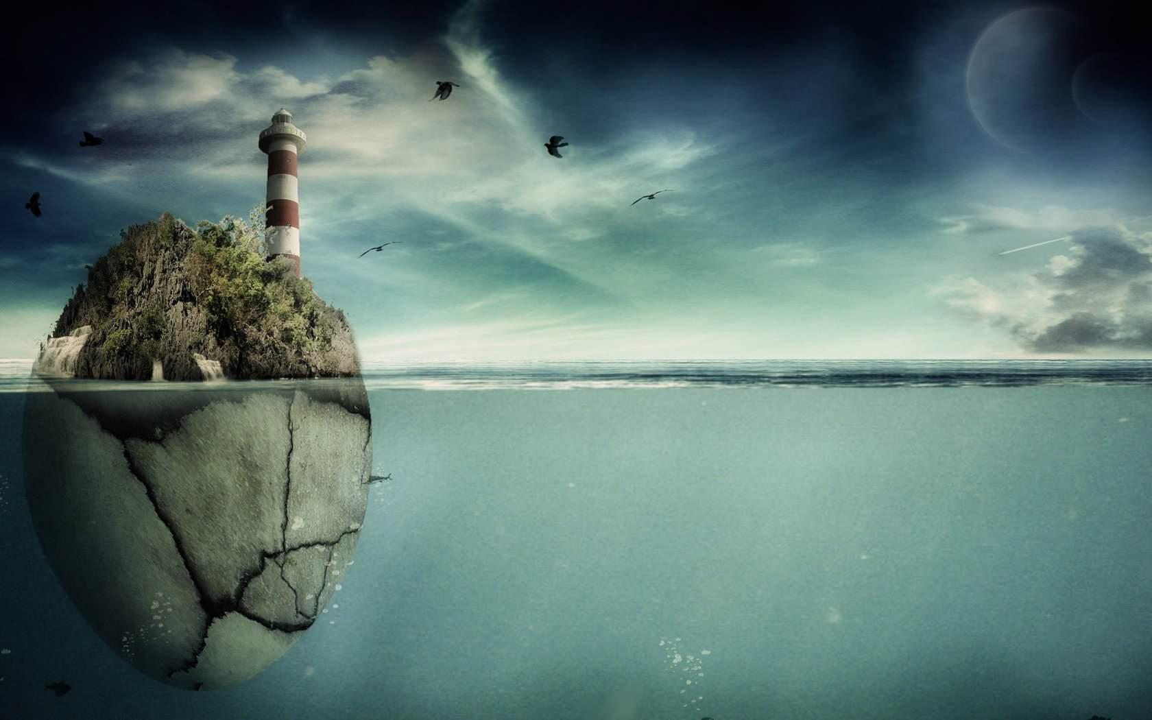 Digital Lighthouse Wallpaper