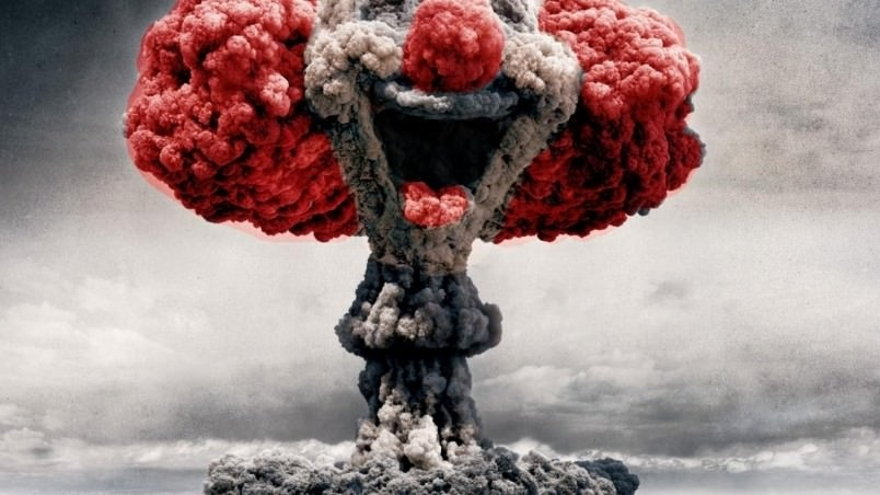 Digital Nuclear Clown Wallpaper