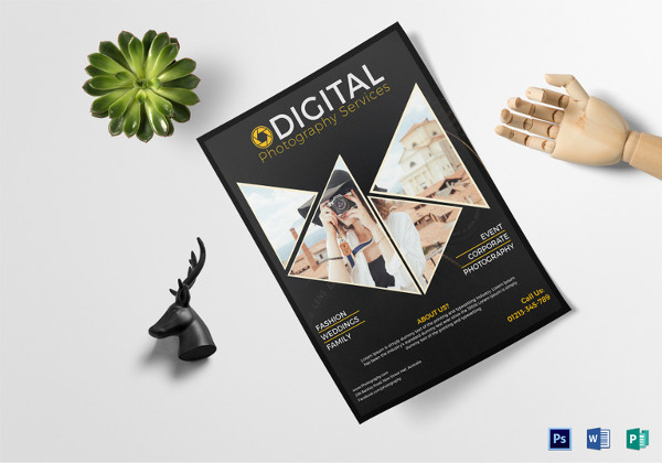 Digital Photography Service Flyer Template