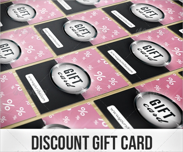 Discount Gift Card Design
