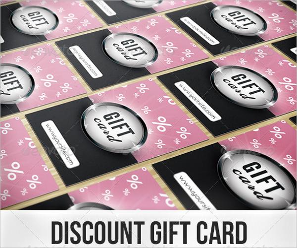 Discount Gift Card Design