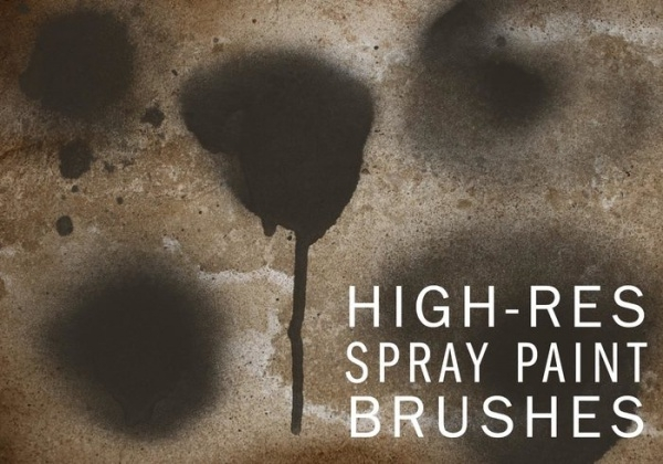 Distressed Drips & Fine Spray Brushes