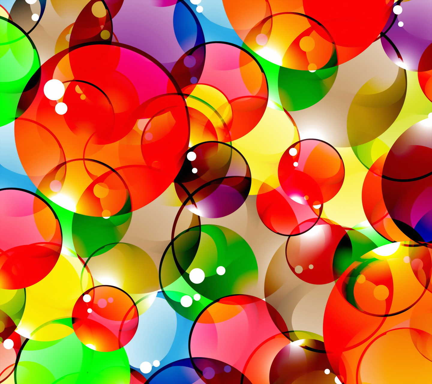 Downlaod Colorful Bubbles Wallpaper