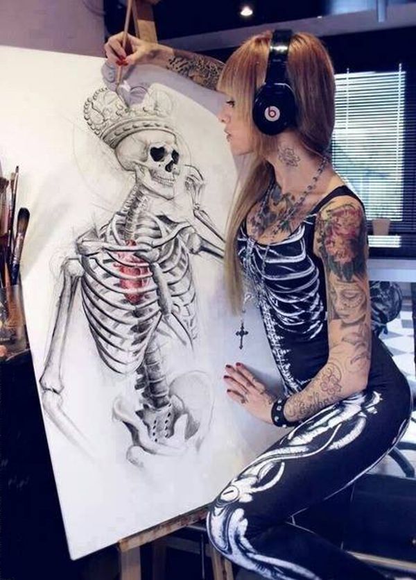 Download Skull Pencil Drawings