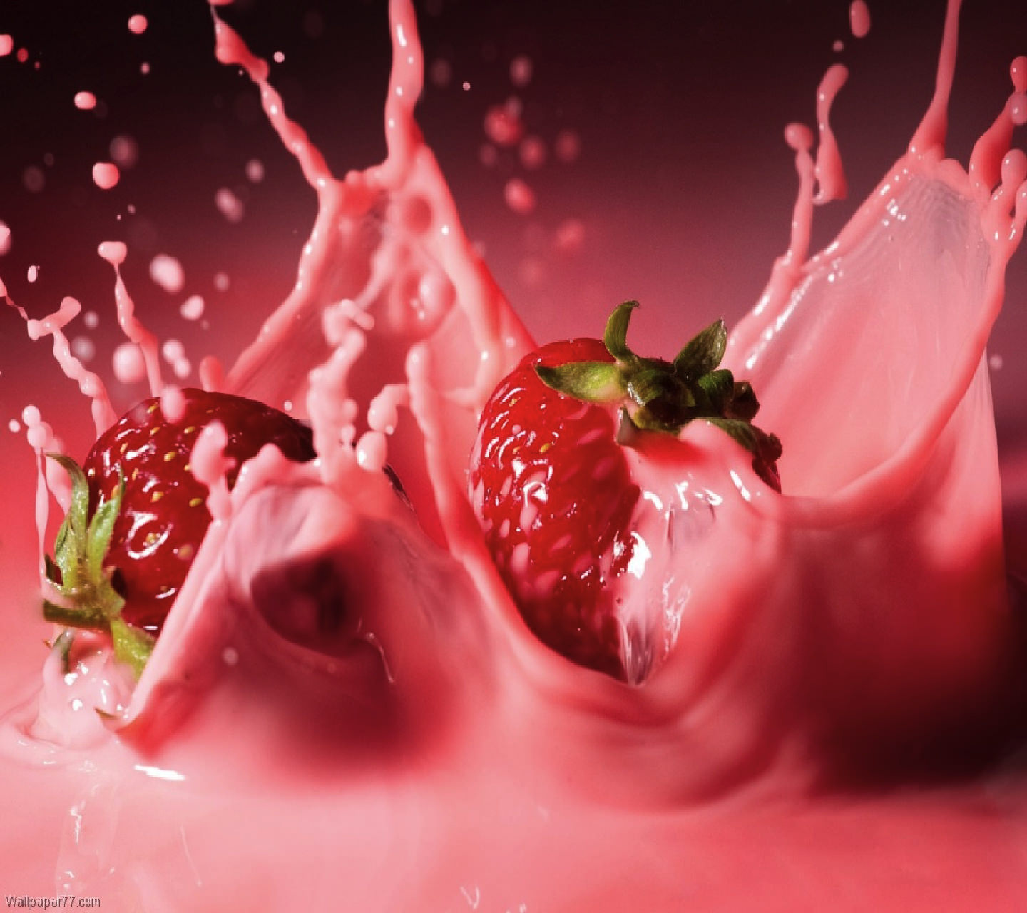 Download Strawberry Syrup Wallpaper