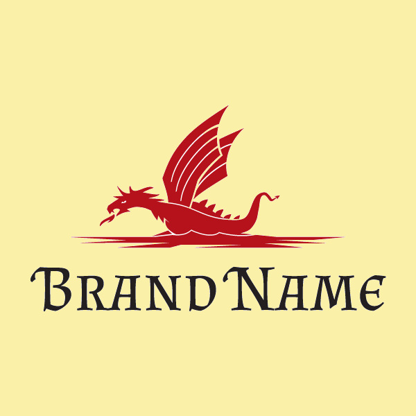 Dragon Ship Logo Design