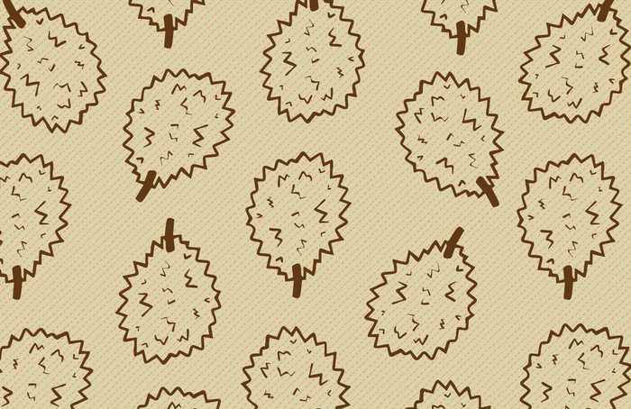 Durian Fruit Vector Pattern
