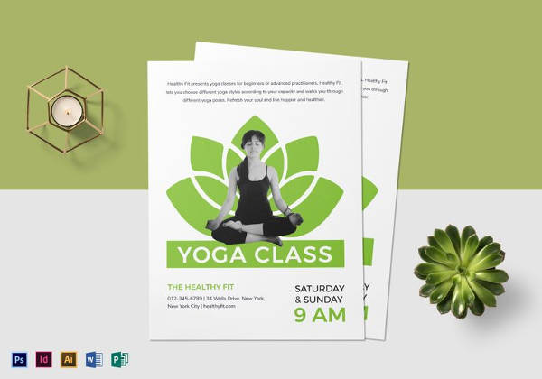 Easy to Edit Yoga Class Flyer Template