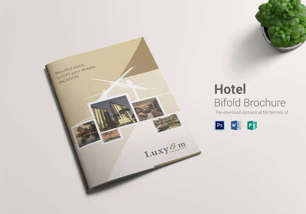 Editable Hotel Bi Fold Brochure Template