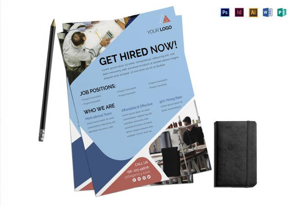 Editable Job Agency Flyer Template