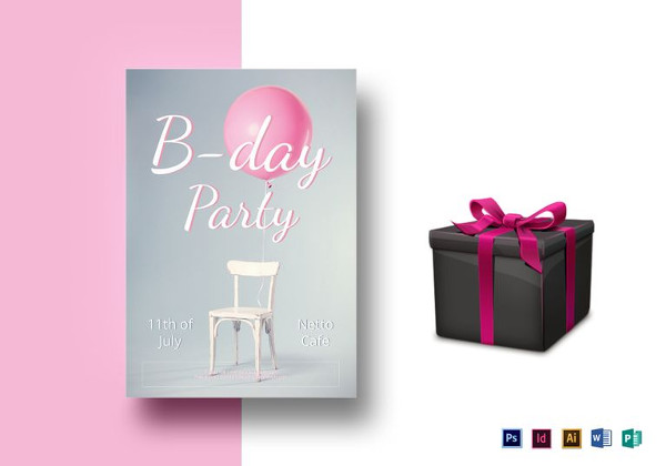 Elegant Birthday Party Flyer
