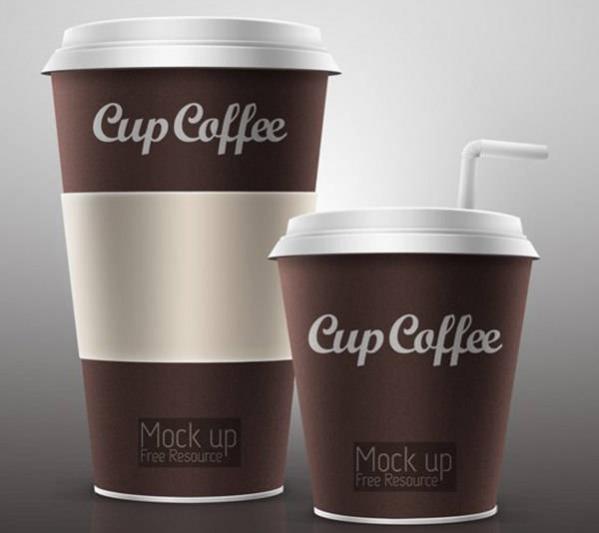Elegant Free PSD Coffee Cup Mockup