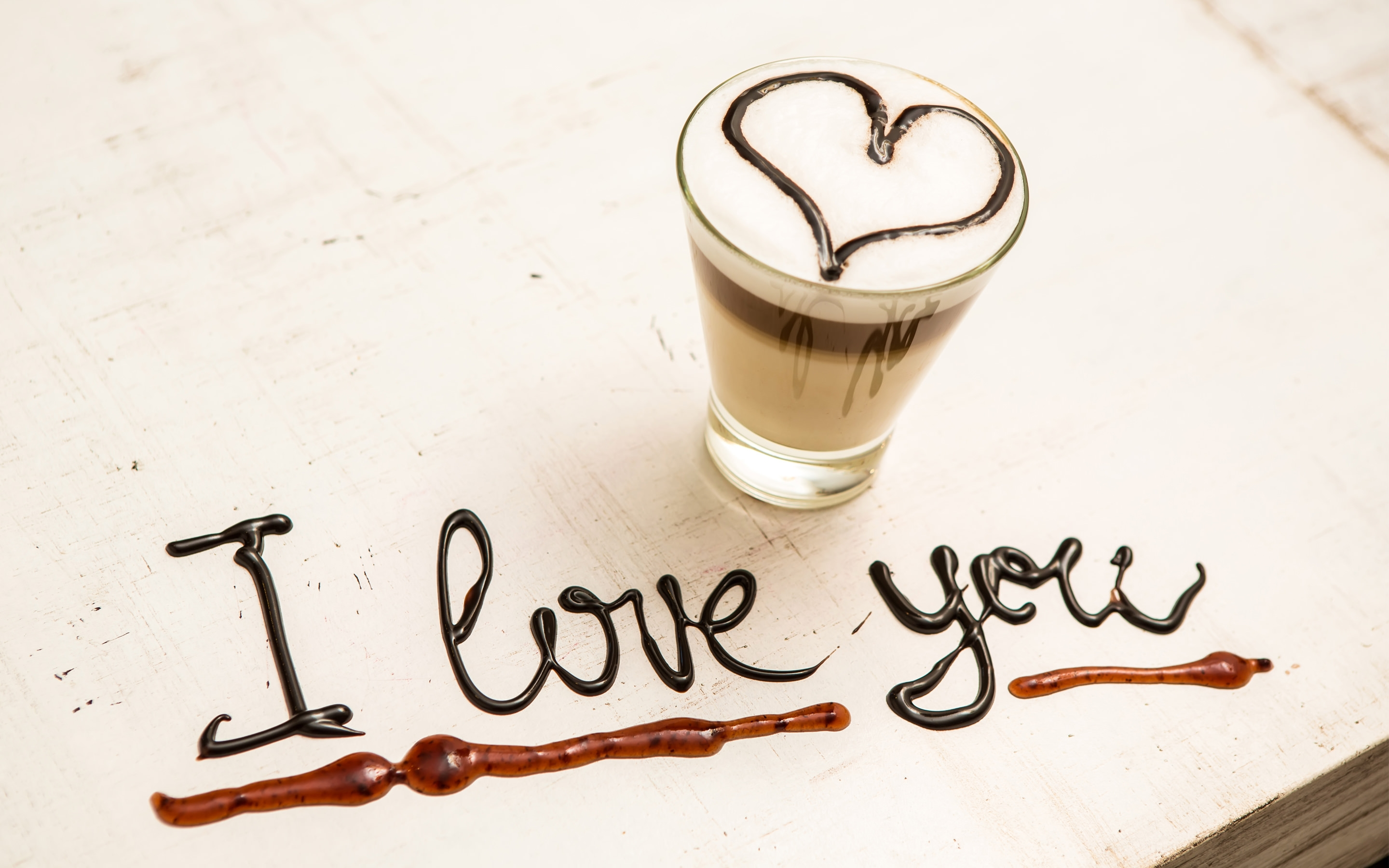 Elegant Love Glass Background
