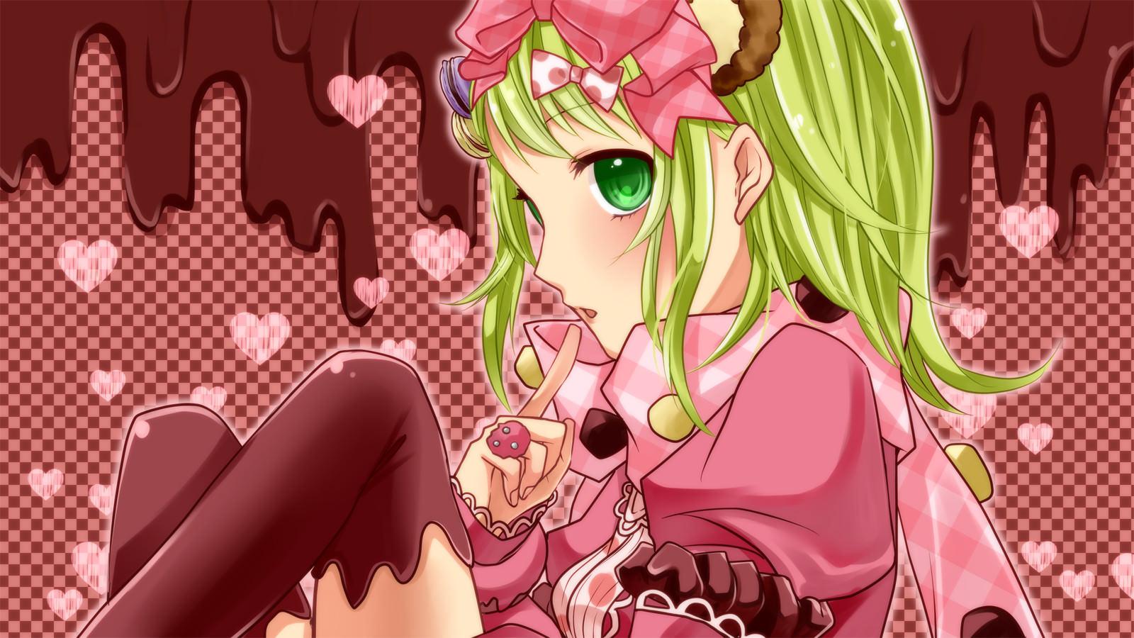 Elegant Pink Vocaloid Wallpaper