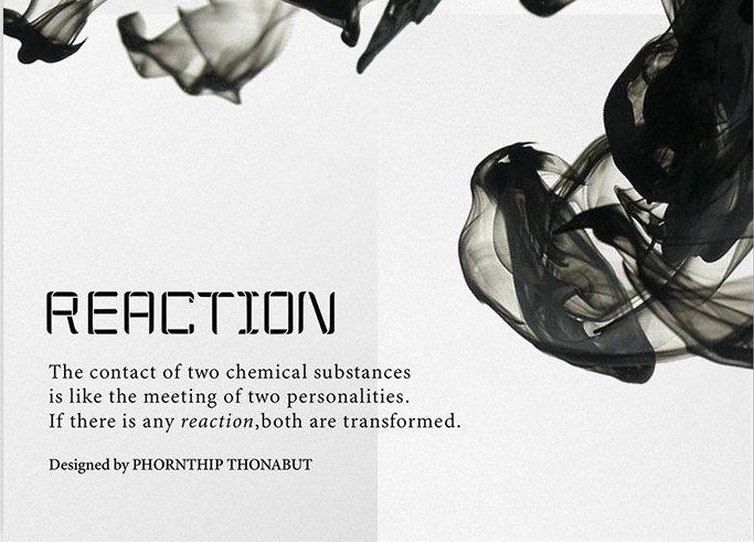 elegant reaction font