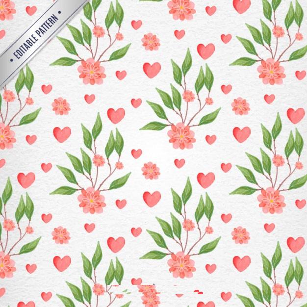 Elegant Watercolor Flowers Patterns