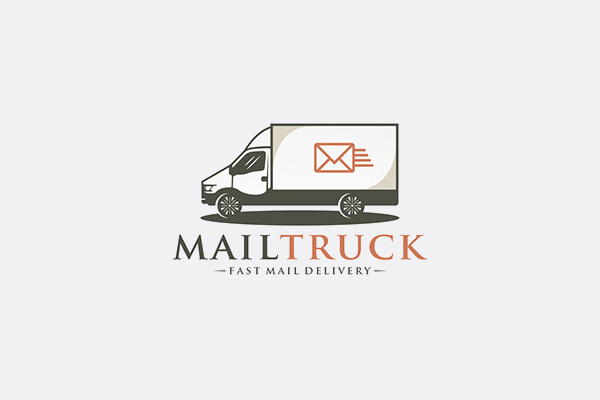 Email Delivery Truck Logo