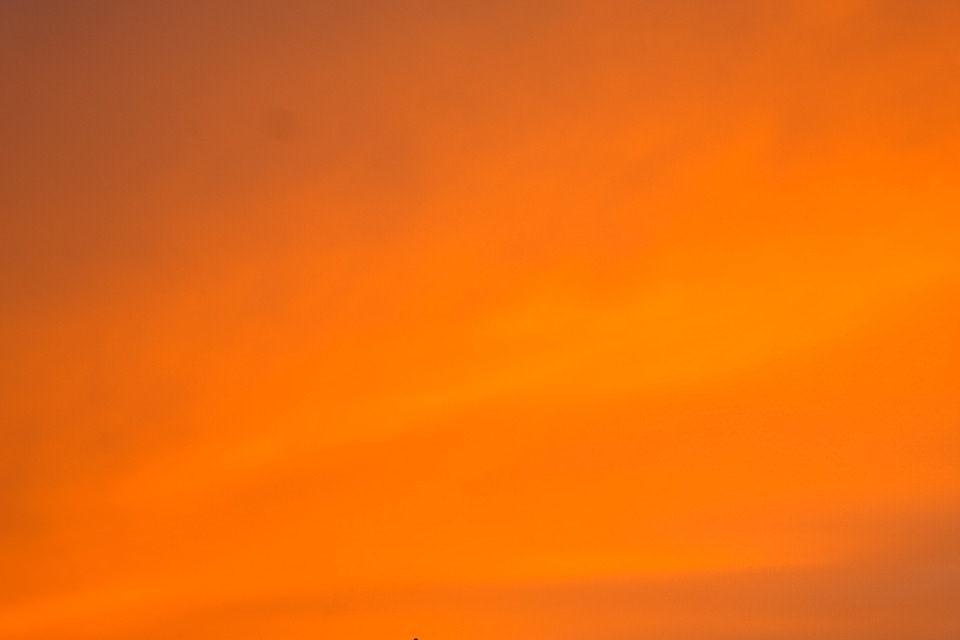 Evening Sunset Orange Background