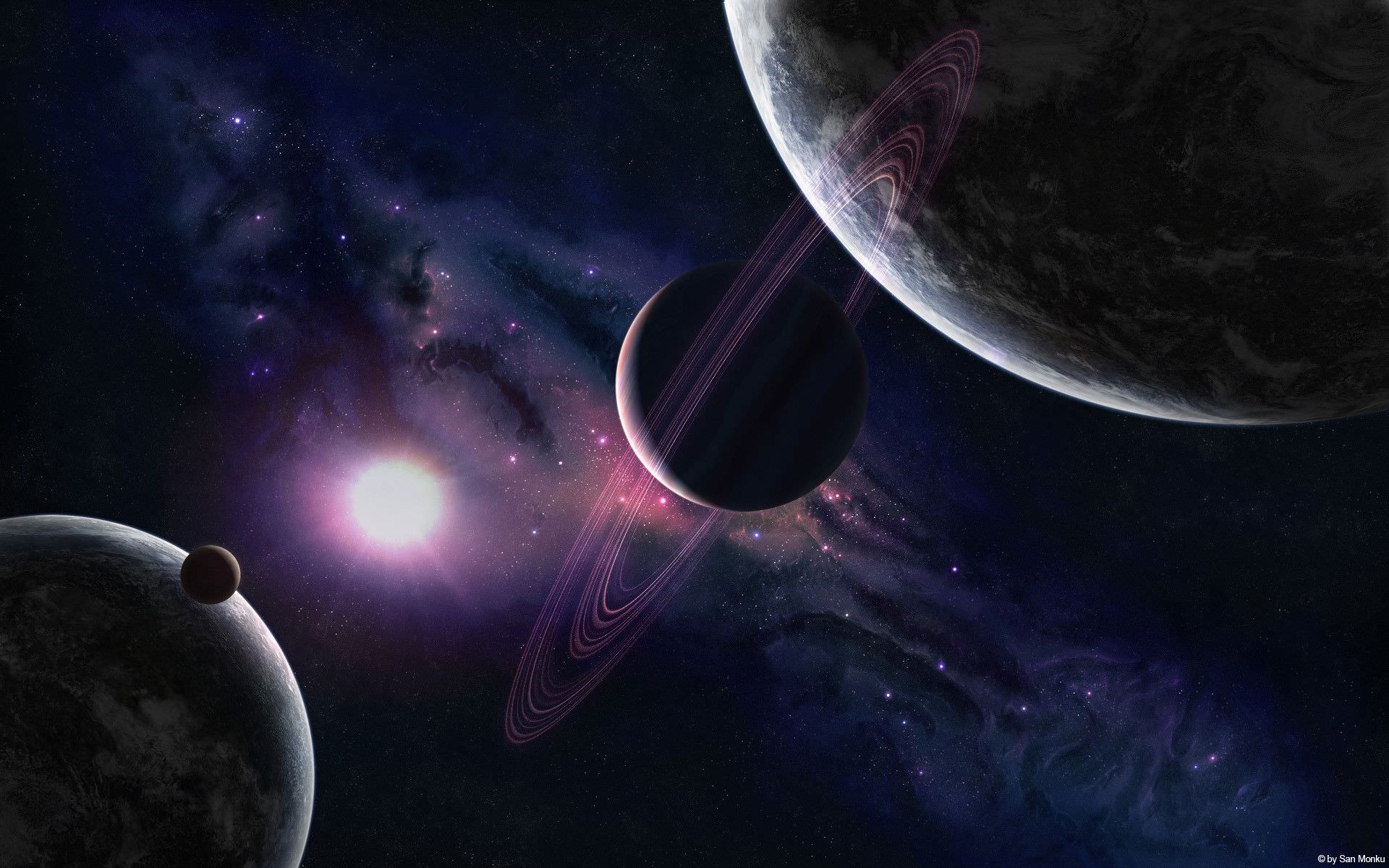Excellent Space Planets HD Wallpaper