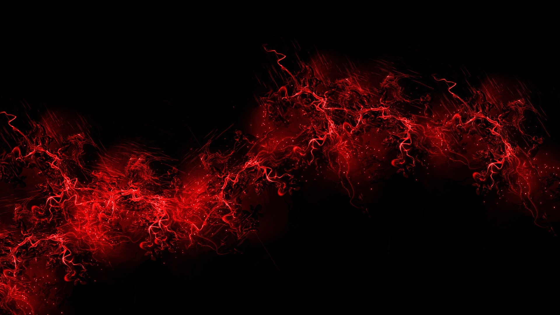 Explosion  Red Abstract Background