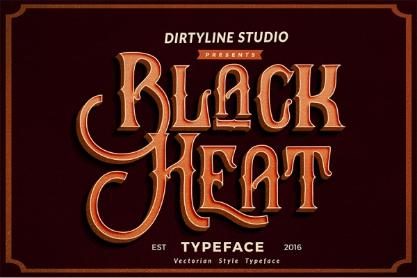 Extraordinary Black Heat Font