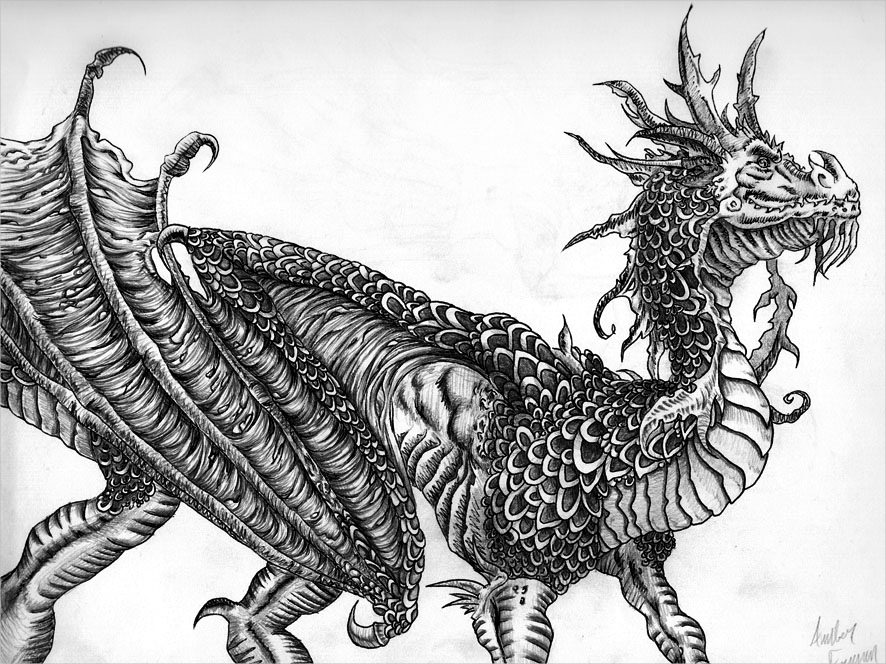 Fabulous Dragon Drawing For You