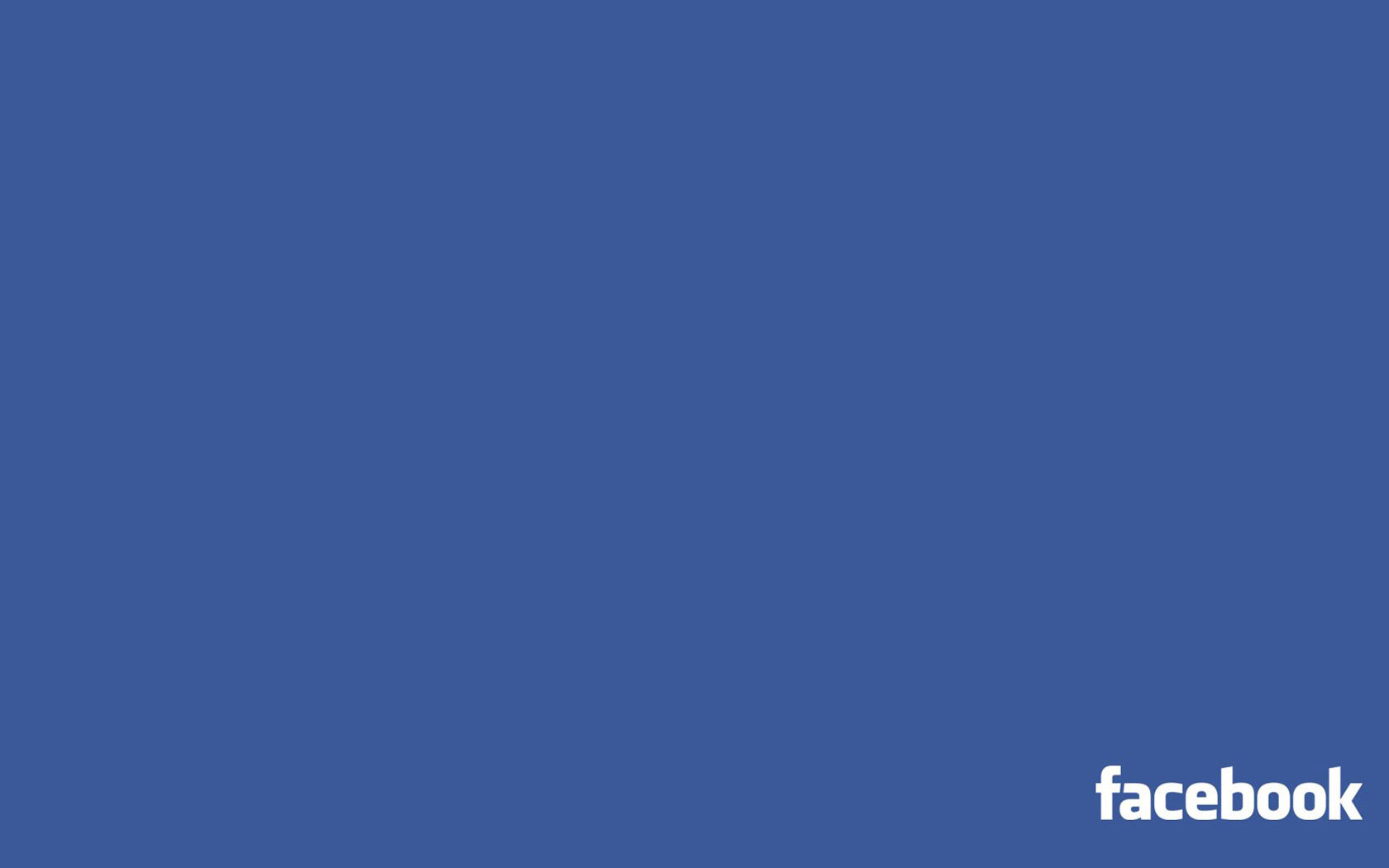 Facebook Minimalistic Wallpaper