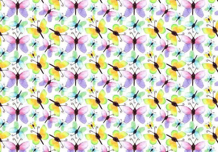 Fantastic Watercolor Butterfly Pattern