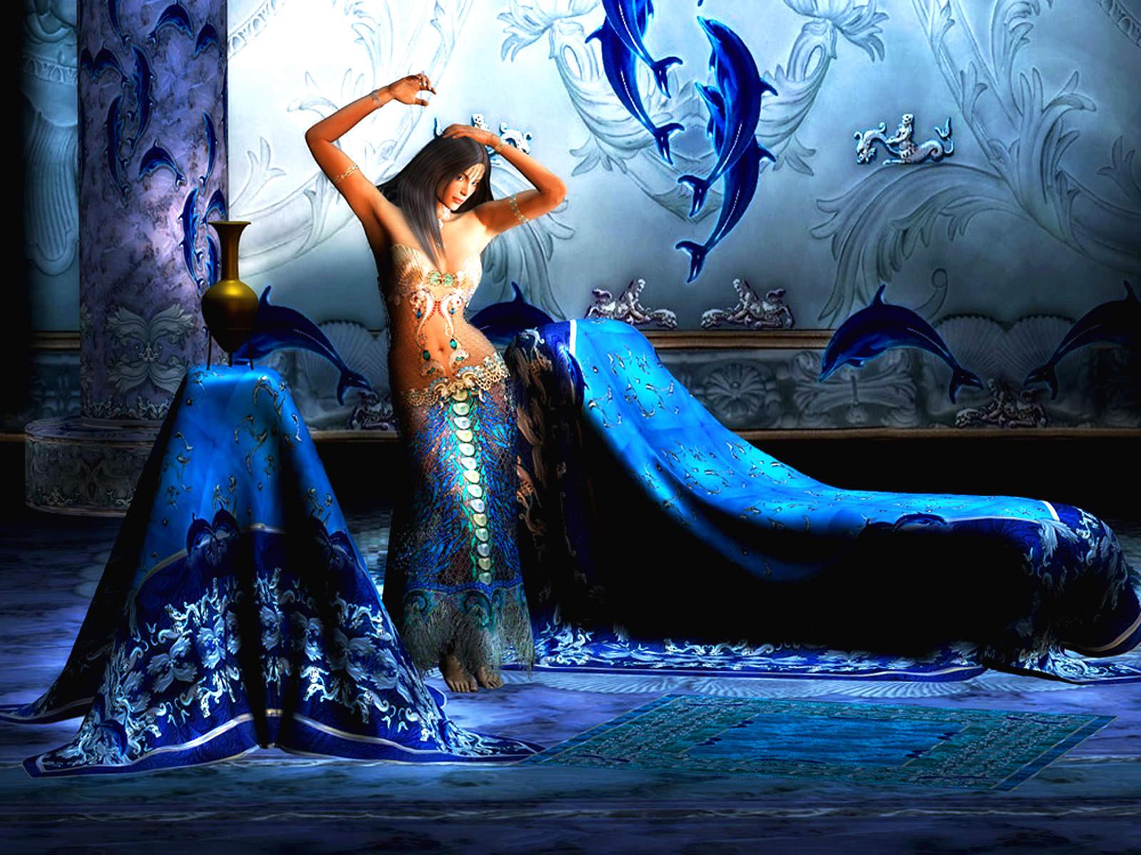 Fantasy Aquaria Girl Wallpaper