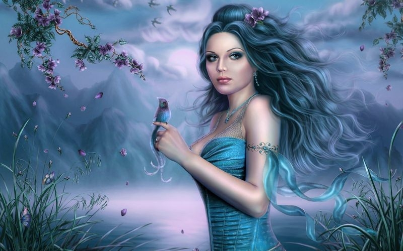 Fantasy Blue Fairy Wallpaper