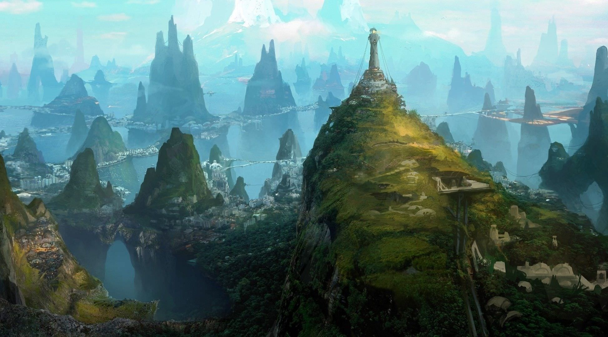Fantasy Landscape City Wallpaper