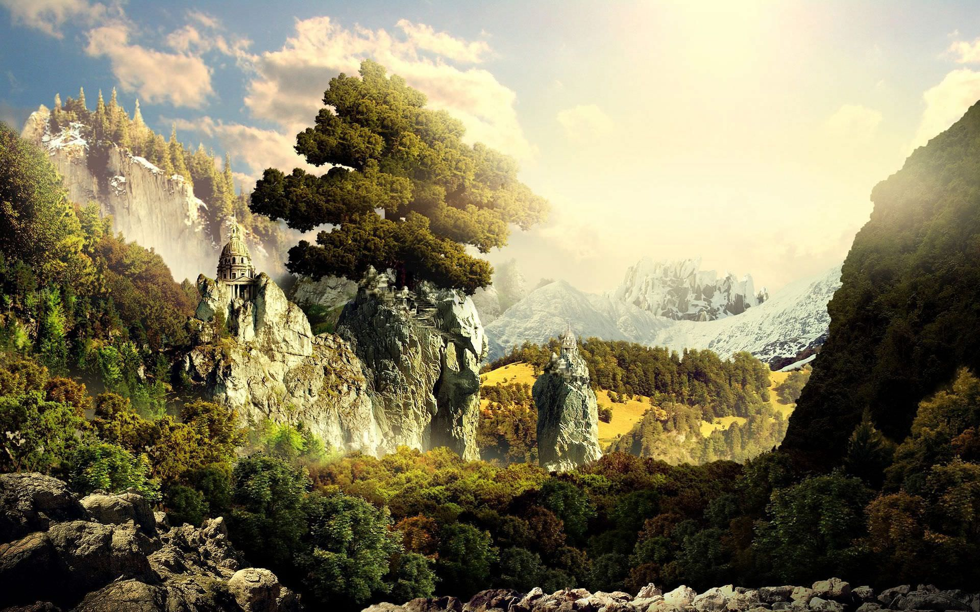Fantasy Landscape Desktop Wallpaper