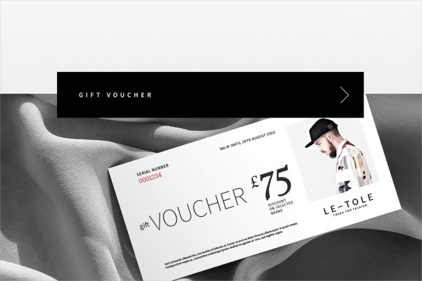 Fashion Gift Voucher Card Design