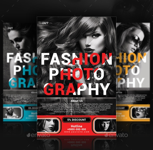 fashion photography flyer design