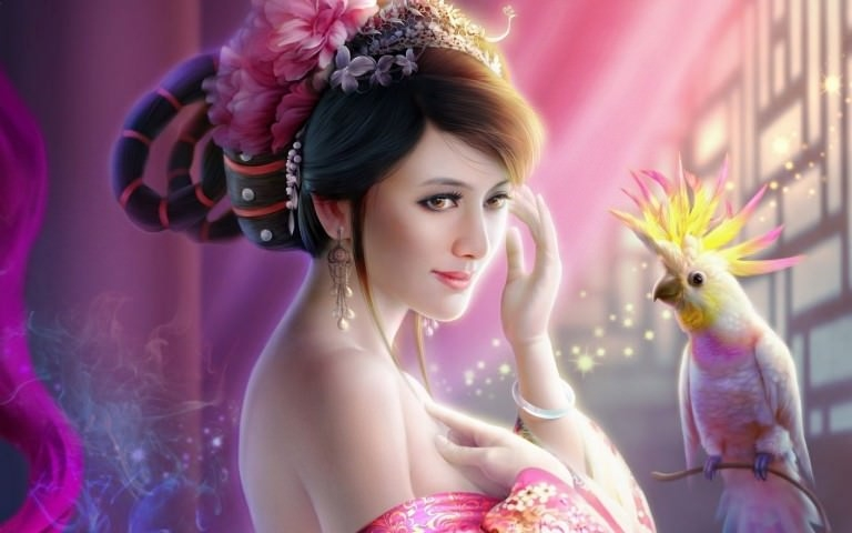 Female Portrait Fantasy Wallpaper
