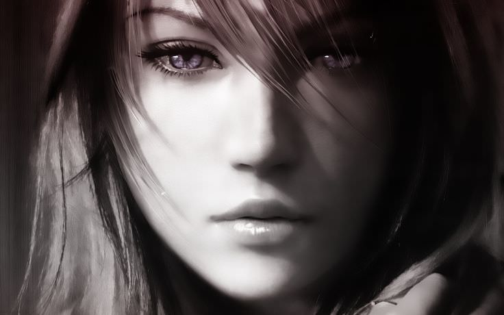 Final Fantasy Lightning Monochrome