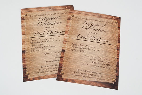 Financial Services Retirement Party Invitation