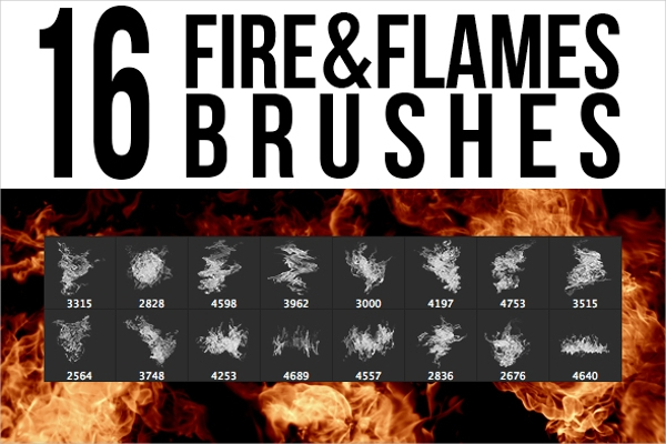 Fire & Flames Explosion Brushes