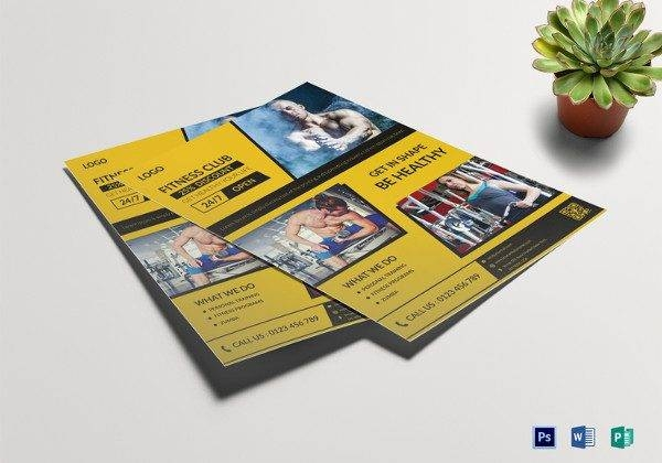 fitness club flyer template 600x420